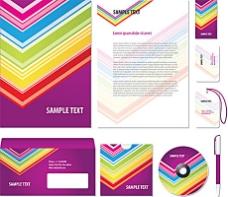 七彩包装封面模板设计矢量素材