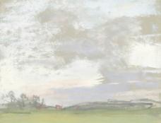 草原油画图片