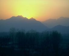 夕阳西下风景图