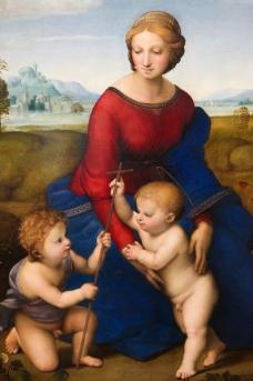 圣母圣子油画图片