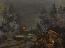乡村夜景图片