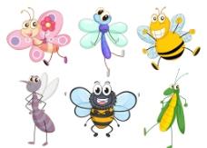 卡通昆虫集图片