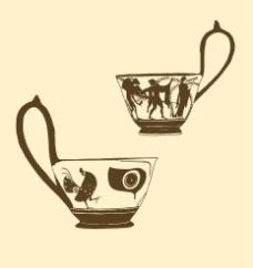 长柄陶杯图片