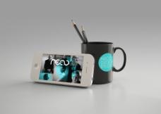 VI设计杯子 手机图片