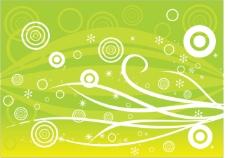 绿色清新花纹矢量海报广告背景素材