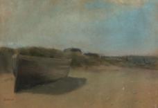 沙滩油画图片