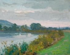 水景油画图片