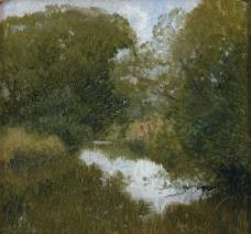 树木油画图片