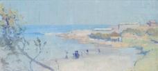 海边油画图片