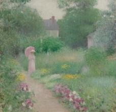 花园油画图片