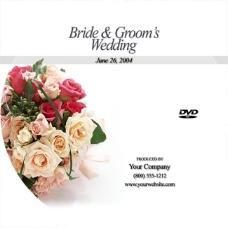 浪漫玫瑰婚庆DVD光盘封面模板PSD素材