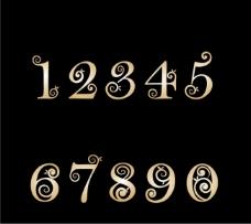 金色艺术字