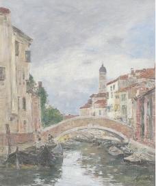小桥油画图片
