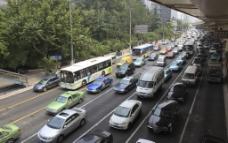 上海延安路交通图片