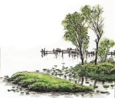 水彩风景图片