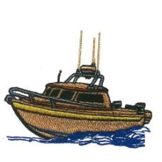 绣花 色彩 棕色 交通工具 船 免费素材