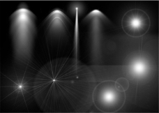 射灯、光晕、灯光分层PSD