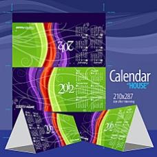 2012台历效果图矢量素材