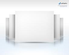 空白展板PSD分层素材