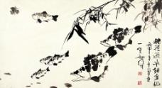 春江逐水图片