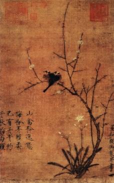 水仙花水墨画_传统艺术
