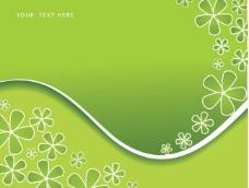 绿色海报背景