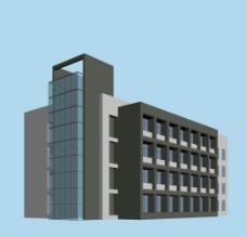 现代办公楼建筑模型图片