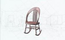 国际主义家具椅子0573D模型