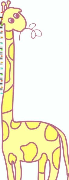 长颈鹿尺子图片