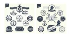 海洋徽章 标签图片