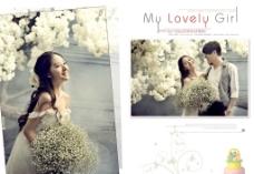 婚纱照相册组模板式样图片
