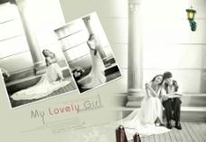 婚纱照相册组图模板式图片