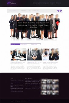 紫色风格HTML商务模板