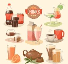 果汁饮料茶水图片