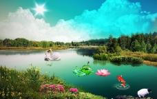 天鹅湖图片