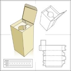长条筒状暖壶包装箱模板含刀模