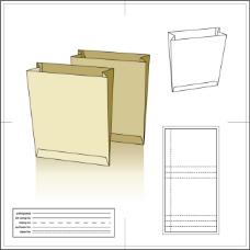 折叠环保袋模板含刀模