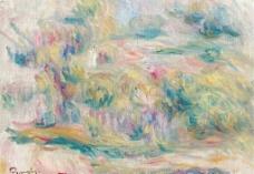 抽象风光油画图片