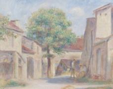 欧洲小镇油画图片