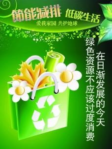 公益广告节能减排低碳生活模板环保手提袋篇
