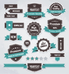 精美商品质量标签矢量素材