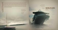 轮船海报设计