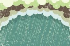 下雨图矢量图