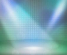蓝色显示房间的聚光灯 舞台背景