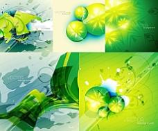 模糊花纹绿色图案背景矢量素材