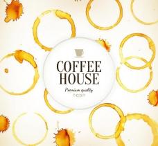 淡彩咖啡海报矢量素材图片