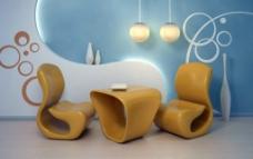 个性桌椅设计图片