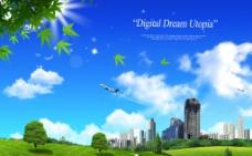 藍天白云風景圖片