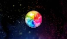 抽象七彩球體