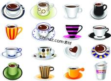 可爱咖啡杯矢量下载